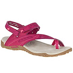 Merrell - Cerise nubuck 'Terran Convertible II' sporty sandals