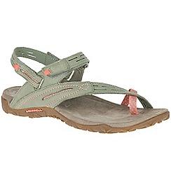 Merrell - Beige nubuck 'Terran Convertible II' sporty sandals