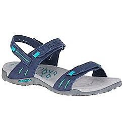 Merrell - Navy nubuck 'Terran Strap II' sporty sandals