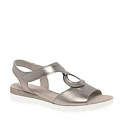 Gabor - Metallic leather 'Ellis' flat sandals