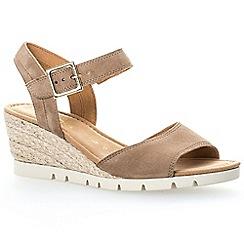 Gabor - Brown suede 'Nieve' wedge sandals