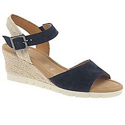 Gabor - Dark blue suede 'Nieve' wedge sandals
