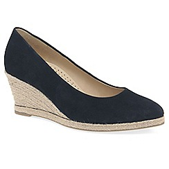 Gabor - Navy 'Paisley' womens high heeled espadrilles