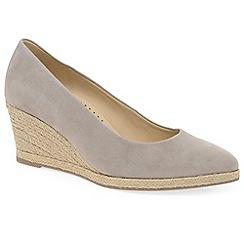 Gabor - Beige 'Paisley' womens high heeled espadrilles