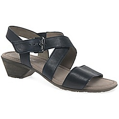 Gabor - Black leather 'Jenya' low casual sandals