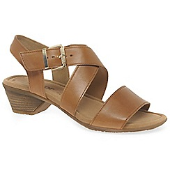Gabor - Beige leather 'Jenya' low casual sandals