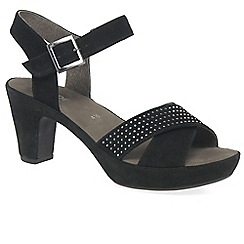 Gabor - Black suede 'Ransom' sandals