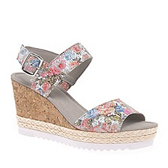 Gabor - Multi coloured leather 'Wicket' wedge sandals