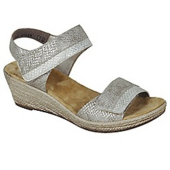 Rieker - Metallic 'Tote' wedge sandals