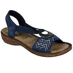 Rieker - Blue 'Chevron' flat sandals
