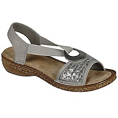 Rieker - Grey 'Chintz' womens casual sandals