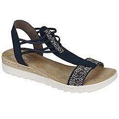 Rieker - Navy 'Step' flat sandals