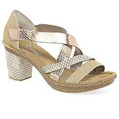 Rieker - Light gold 'cromer' womens casual sandals