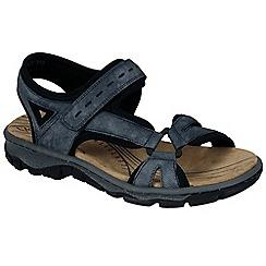 Rieker - Blue 'Scale' flat walking sandals