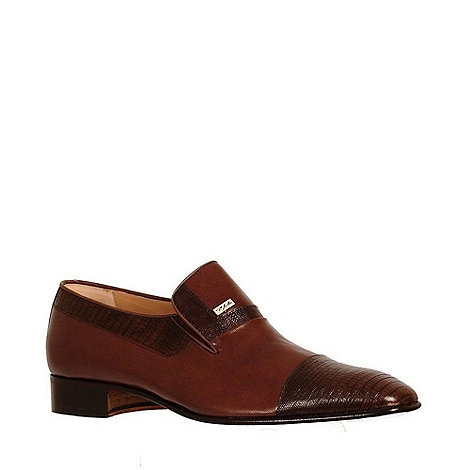 Paco Milan - Brown +Elche+ Leather Formal Slip On Shoes