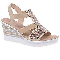 Rieker - Rose 'Mosam' high wedge sandals