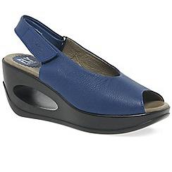 Fly London - Blue 'Hett' womens wedge heel sandals