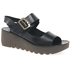 Fly London - Black 'Yail' womens casual sandals