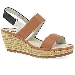 Fly London - Tan leather 'Ekan' wedge sandals