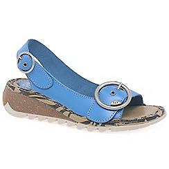 Fly London - Blue 'Tram' womens casual sandals
