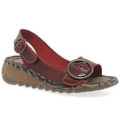 Fly London - Red 'Tram' womens casual sandals