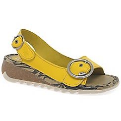 Fly London - Yellow 'Tram' womens casual sandals