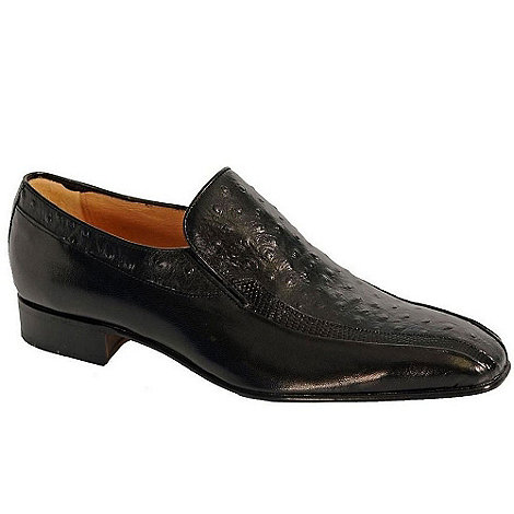 Paco Milan - Black 'Alicante' Leather Slip On Shoes