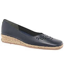 Van Dal - Navy leather 'Franklyn' women's shoes