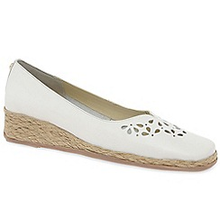 Van Dal - White leather 'Franklyn' women's shoes