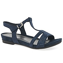 Marco Tozzi - Navy 'Cannon' flat sandals