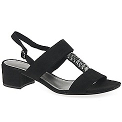 Marco Tozzi - Black 'Anderson' low heeled sandals