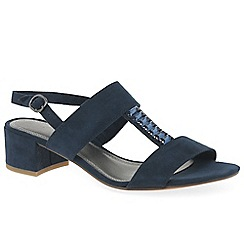 Marco Tozzi - Navy 'Anderson' low heeled sandals