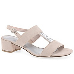 Marco Tozzi - Beige 'Anderson' low heeled sandals