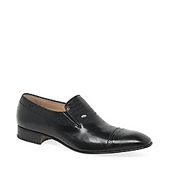 Paco Milan - Black 'Barcelona' Leather Slip On Shoes