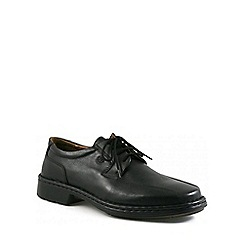 Josef Seibel - Black Burgess Wide Fit Shoes