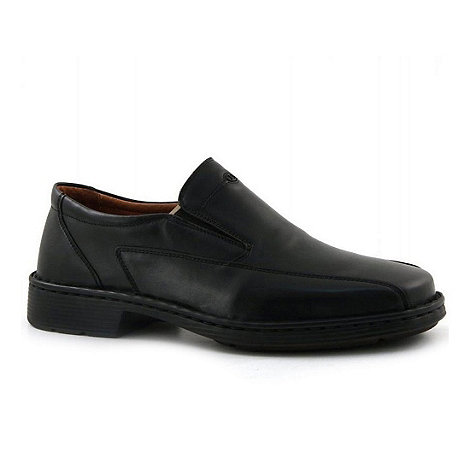 Josef Seibel - Black Barker Wide Fit Shoes