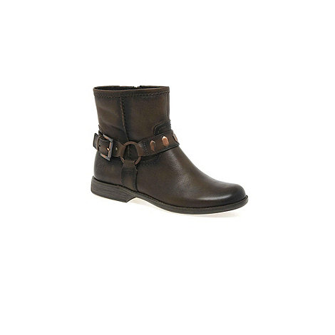 Marco Tozzi - Brown 'zara' womens leather ankle boots