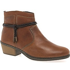 Rieker - Brown 'Western' womens ankle boots