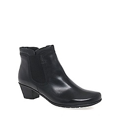 Gabor - Near black 'Sound' Womens Zip Up Ankle Boots