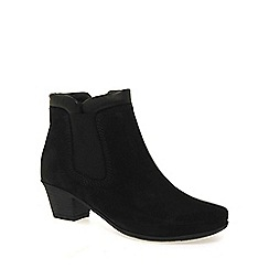 Gabor - Black 'sound' womens zip up ankle boots