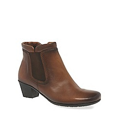 Gabor - Dark tan 'Sound' womens zip up ankle boots