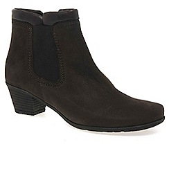 Gabor - Brown 'sound' womens zip up ankle boots