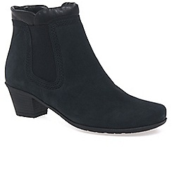 Gabor - Navy 'Sound' womens zip up ankle boots