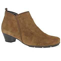Gabor - Brown suede 'Trudy' womens ankle boots