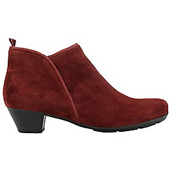 Gabor - Wine 'Trudy' Womens Ankle Boots
