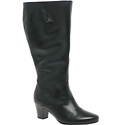 Gabor - Black 'mouse' long wide fit boots