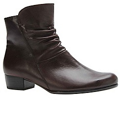 Gabor - Dark brown 'Jensen' womens ankle boots