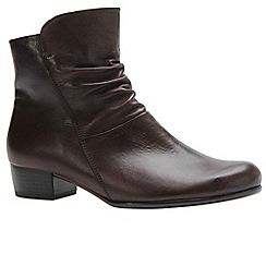 Gabor - Dark brown 'Jensen' womens ankle boots