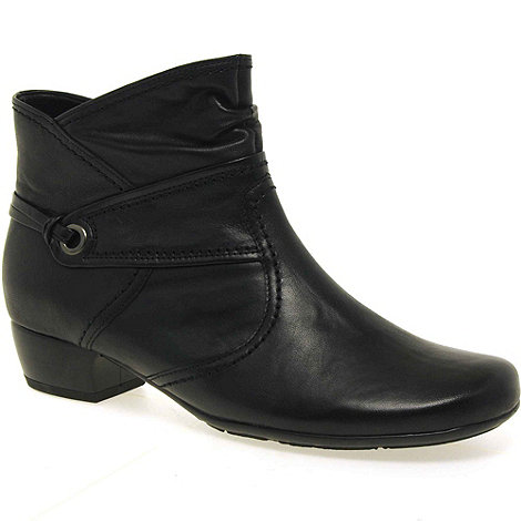 Gabor - Black +adriano+ womens zip up ankle boots