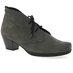 Gabor - Grey 'cynthia' womens lace up ankle boots
